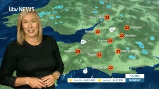 Warm and muggy, cloud clearing