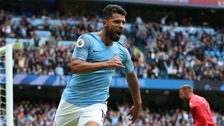 Manchester City hit Huddersfield for six