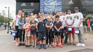 The team of volunteers held a collection at Portman Road.