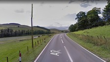 The A7 in the Scottish Borders