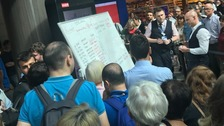Gatwick Airport resorts to whiteboards after electronic screens stop working