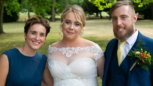 Alzheimer's Society ambassador, Line of Duty star Vicky McClure, joined Daniel and Jordan on their big day.