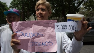 The cost of food in Venezuela is hyperinflated.