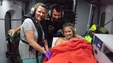 Baby born on board Coastguard helicopter at 1,400 feet