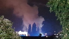 Large fire at industrial estate near Wrexham