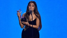 Emotional Ariana Grande wins Best Pop prize at MTV VMAs