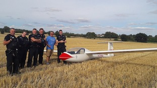 Suffolk Police tweeted this picture of the aircraft