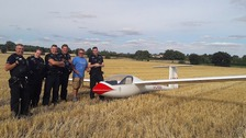 Pilot makes emergency landing in Suffolk field