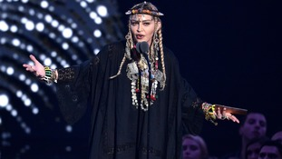 Madonna paid tribute to Aretha Franklin at the MTV VMAs.