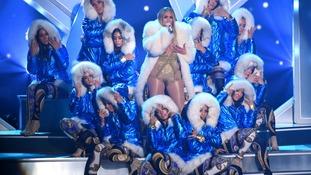 Jennifer Lopez was honoured with the Michael Jackson Video Vanguard Award.