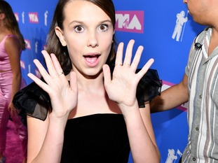 Millie Bobby Brown from the hit Netflix show 'Stranger Things' at the VMAs.