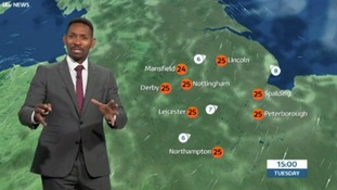East Midlands Weather: Humid with sunny spells and isolated showers