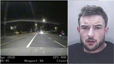 Dangerous driver led police on 13-mile car chase hitting 110mph