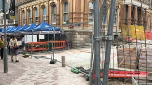 Market traders say they are struggling during the redevelopment works.