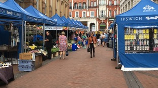 The market stalls are now down a back street