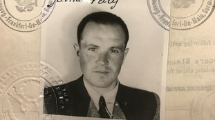 Palij's photo on his entry documents for the US.