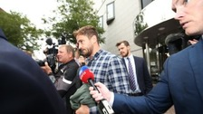 Danny Cipriani leaves Jersey's Magistrate's Court after he admitted common assault and resisting arrest.