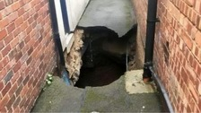 Supermarket evacuated as sinkhole appears in Ripon