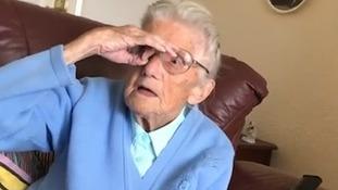 Social media star 'Little Nana Iris' takes on Dele Alli challenge for her Facebook fans at 91
