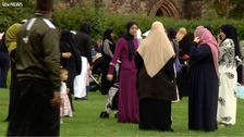 icle)  Thousands have got together to pray in the open air as part of 'Eid in the Park'