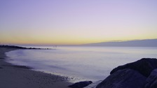 Clear sky over beach - Southwold