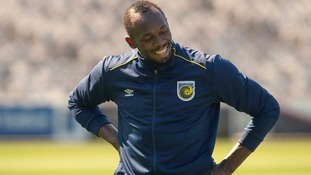 Usain Bolt begins football trial in Australia as he pursues dream of playing for Manchester United