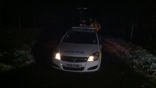 Police outside Todmorden slaughterhouse