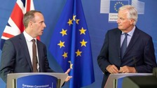 Barnier warns Raab that EU principles are non negotiable