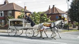Stormtroopers provide guard of honour for funeral of Stanley Metcalf, six