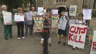 Protest at radical proposals to cutback on bus services in Reading