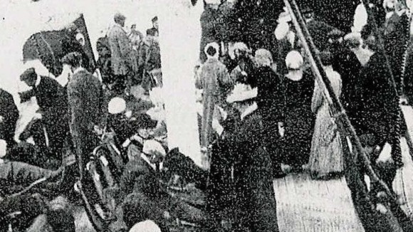 Passengers taken to carpathia, the ship that eventually came to the rescue of Titanic. 