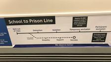 Satirical tube maps plotting the path young people excluded from education take to prison have appeared on the tube.