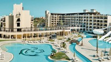 The couple had been staying at the Steigenberger Aqua Magic Hotel