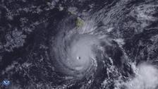 Hurricane Lane south of Hawaii