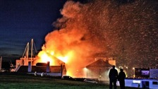 Fire at Holyhead Marina