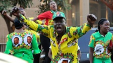 Supporters of Mr Mnangagwa celebrated the court's decision