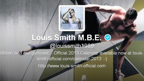Gymnast Louis Smith MBE&#x27;s new Twitter profile