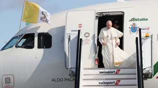 Pope Francis arrives in Ireland
