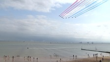 The Red Arrows wow the crowds at Clacton.