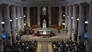 Pope Francis addresses engaged and newly-married couples inside St Mary's Pro-Cathedral.