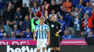 Jonathan Hogg sees red as Huddersfield and Cardiff play out a goalless draw