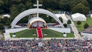 Some 500,000 attended the mass in Phoenix Park to hear the Pope speak.