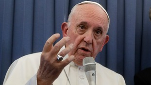 Pope Francis said he 'won't say a word' about the claims.