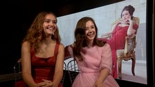 Olivia Cooke and her co-star Claudia Jessie.