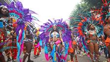 Dancers add colour to the Notting Hill Carnival.