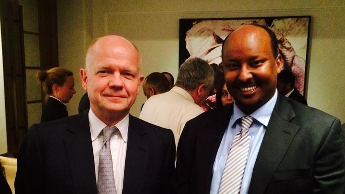 Abdirashid Duale (r) is a British-Somali entrepreneur.