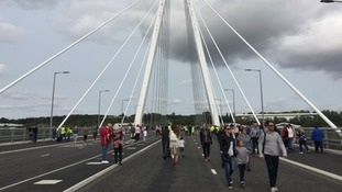 People in Sunderland cross Northern Spire for first time