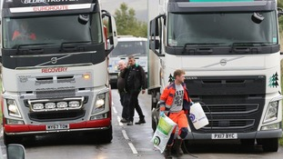 Diesel spillage on A711 Dumfries to Dalbeattie road
