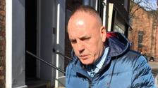Ashley Cole seen leaving Carlisle Crown Court