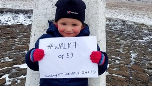 Inspiring Britain: Five-year-old Daisy Hooper conquers Pendle Hill 52 times for charity